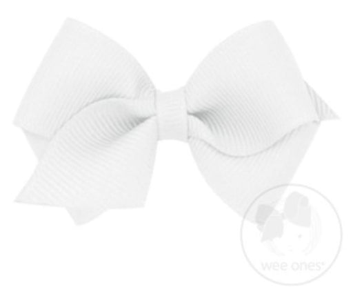 Wee Hair Bow Hair Bows WeeOnes White