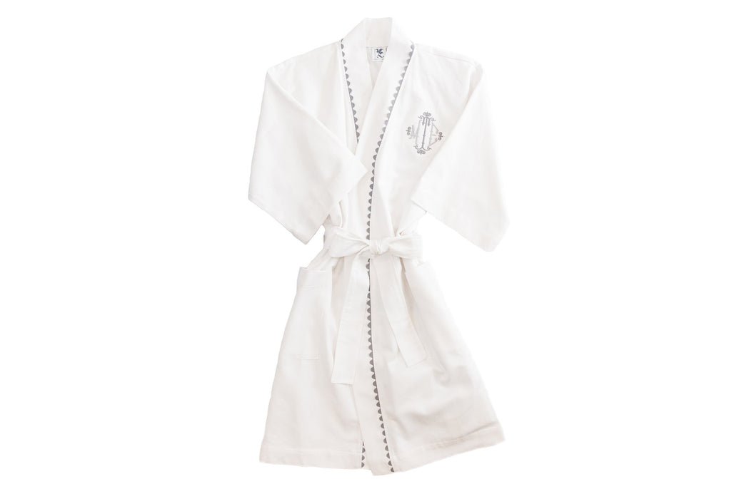 Women's RicRac Robe Robes Royalty Collection Grey RicRac Small
