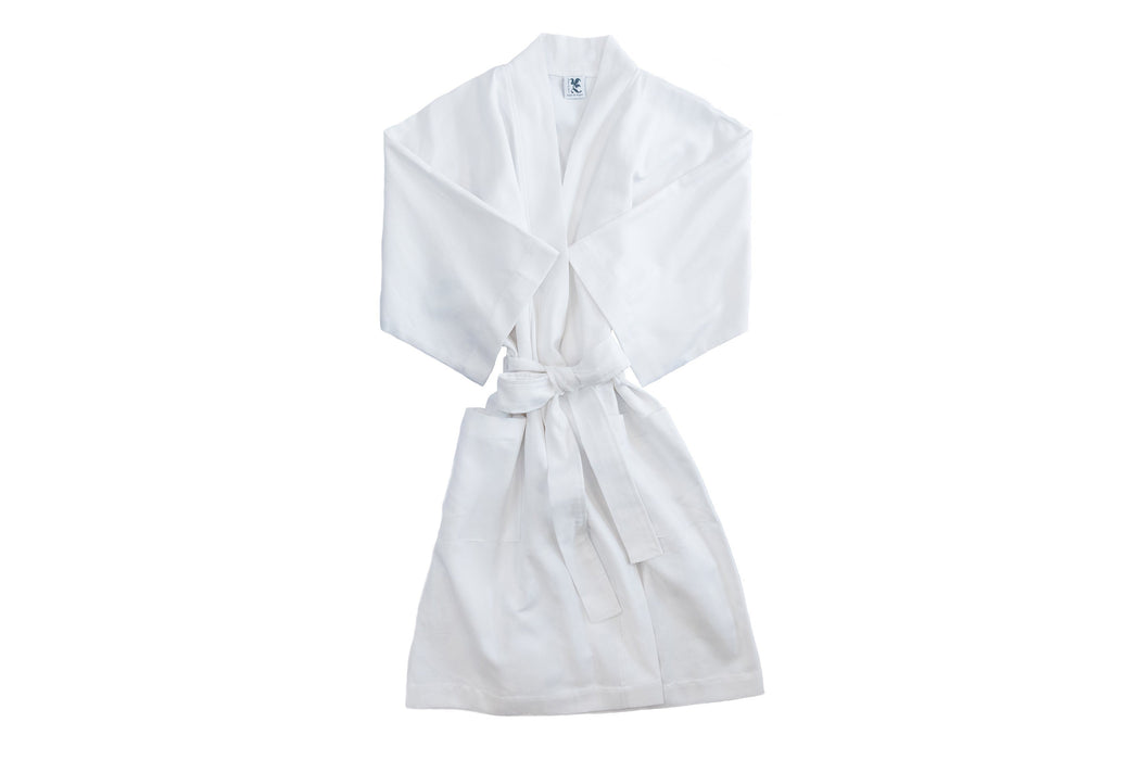 Women's RicRac Robe Robes Royalty Collection Plain White Small