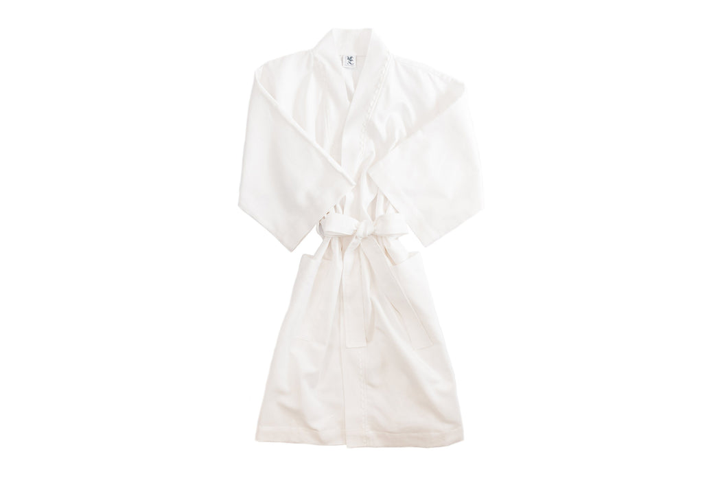 Women's RicRac Robe Robes Royalty Collection White RicRac Small