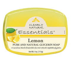 Clearly Natural Essentials Lemon Glycerine Soap 4 Oz