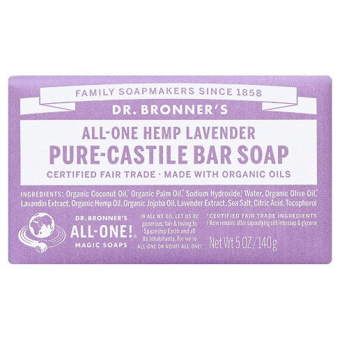 Dr. Bronner's Hemp Lavender Bar Soap 5 oz