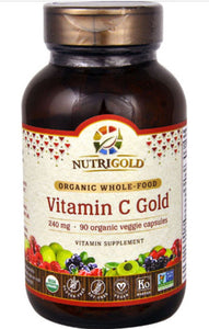 NutriGold Organic Whole Food Vitamin C Gold