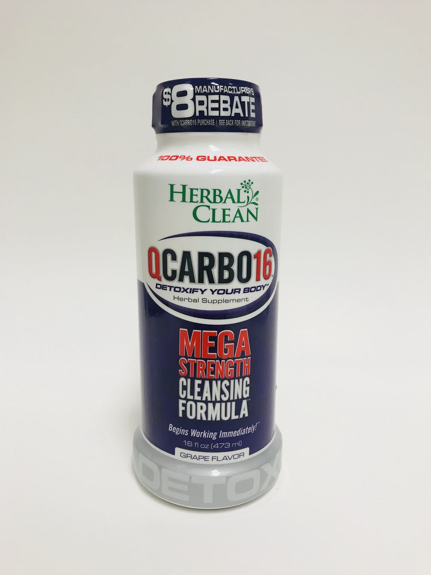 Herbal Clean Qcarbo16 Cleansing Formula Grape 16 fl oz.