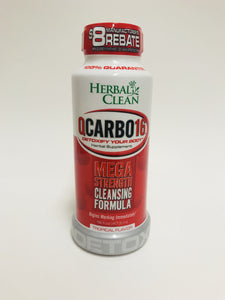 Herbal Clean Qcarbo16 Cleansing Formula Tropical 16 Fl Oz