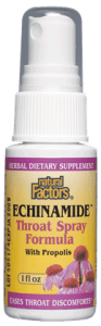 Natural Factors Echinamide Throat Spray With Propolis 1 oz