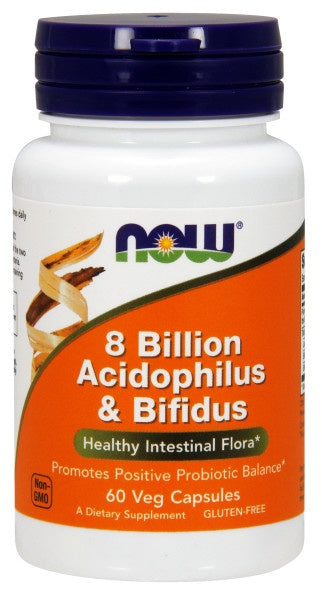 8 Billion Acidophilus & Bifidus - 60 Veg Capsules