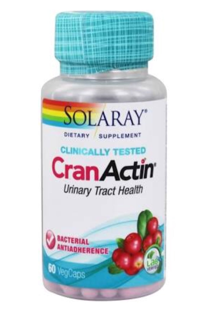 Solaray CranActin Cranberry Supplement 60 Capsules