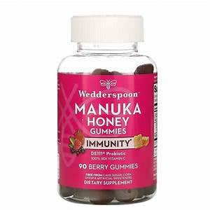Wedderspoon Manuka Honey Immunity Berry Gummies