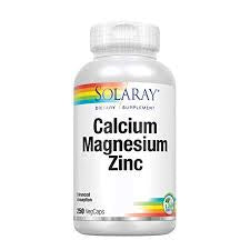 Solaray Calcium Magnesium Zinc Chelated 250 Capsules