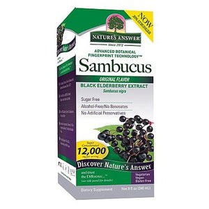 Nature's Answer Sambucus Black Elderberry Syrup 8 oz