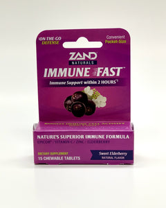 Zand Immune Fast Elderberry 15 Chewable Tablets
