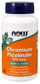 Now Chromium Picolinate 200 mcg - 100 Veg Capsules