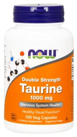 Taurine, Double Strength 1000 mg - 100 Veg Capsules
