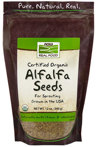 Organic Alfalfa Seeds for Sprouting  - 12 oz.