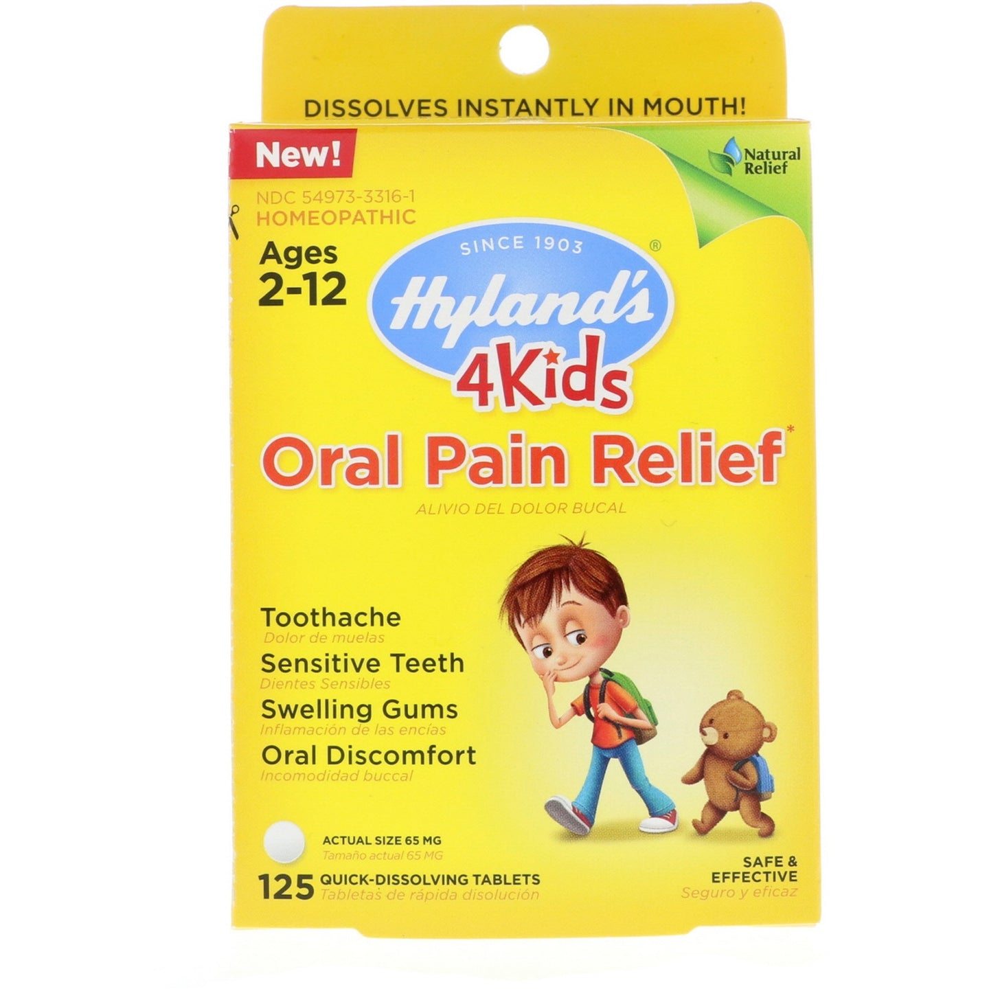 Hyland's 4 Kids Oral Pain Relief Homeopathic Medicine