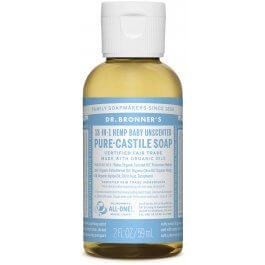 Dr. Bronner's Hemp Baby Unscented Castile Soap 2 oz