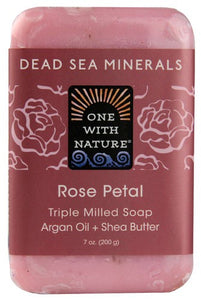 Dead Sea Minerals Rose Petal Triple Milled Soap  7 oz