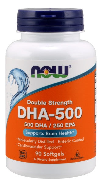 Now DHA-500, Double Strength - 90 Softgels