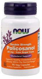 Policosanol, Double Strength 20 mg - 90 Veg Capsules