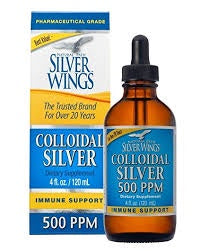Natural Path Silver Wings Colloidal Silver 500 PPM 4 oz""