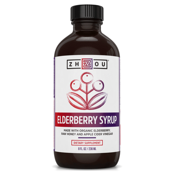 Zhou Elderberry Syrup 8 Oz