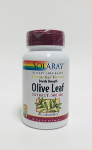 Solaray Guaranteed Potency Double Strength Olive Leaf Extract 500 mg