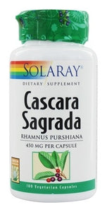Solaray Cascara Sagrada 450 mg 100 Capsules