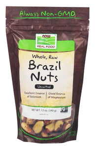 Brazil Nuts, Whole, Raw & Unsalted - 12 oz.