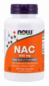 Now NAC 600 mg 100 Vegetarian Capsules