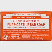 Dr. Bronner's Hemp Tea Tree Pure-Castile Bar Soap 5 Oz