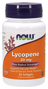 Now Lycopene 20 mg 50 Softgels