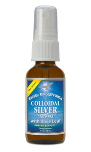 Silver Wings Colloidal Silver Spray w/ Olive Leaf 150 PPM 1 Oz