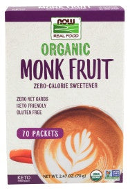 Monk Fruit, Organic 70 Packets