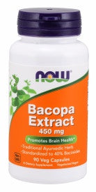 Now Bacopa Extract 450 Mg 90 Capsules