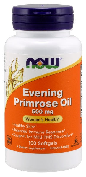 Now Evening Primrose Oil 500 mg -100 Softgels