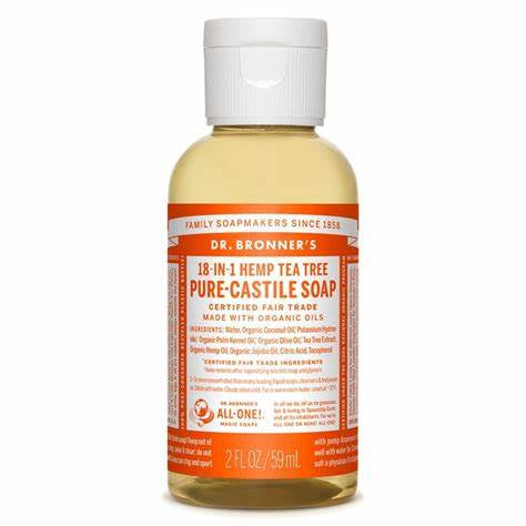 Dr. Bronner's Pure-Castille Soap Hemp Tea Tree 2 oz