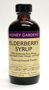 Honey Garden's Elderberry Syrup  Traditional Immune Formula 4 oz