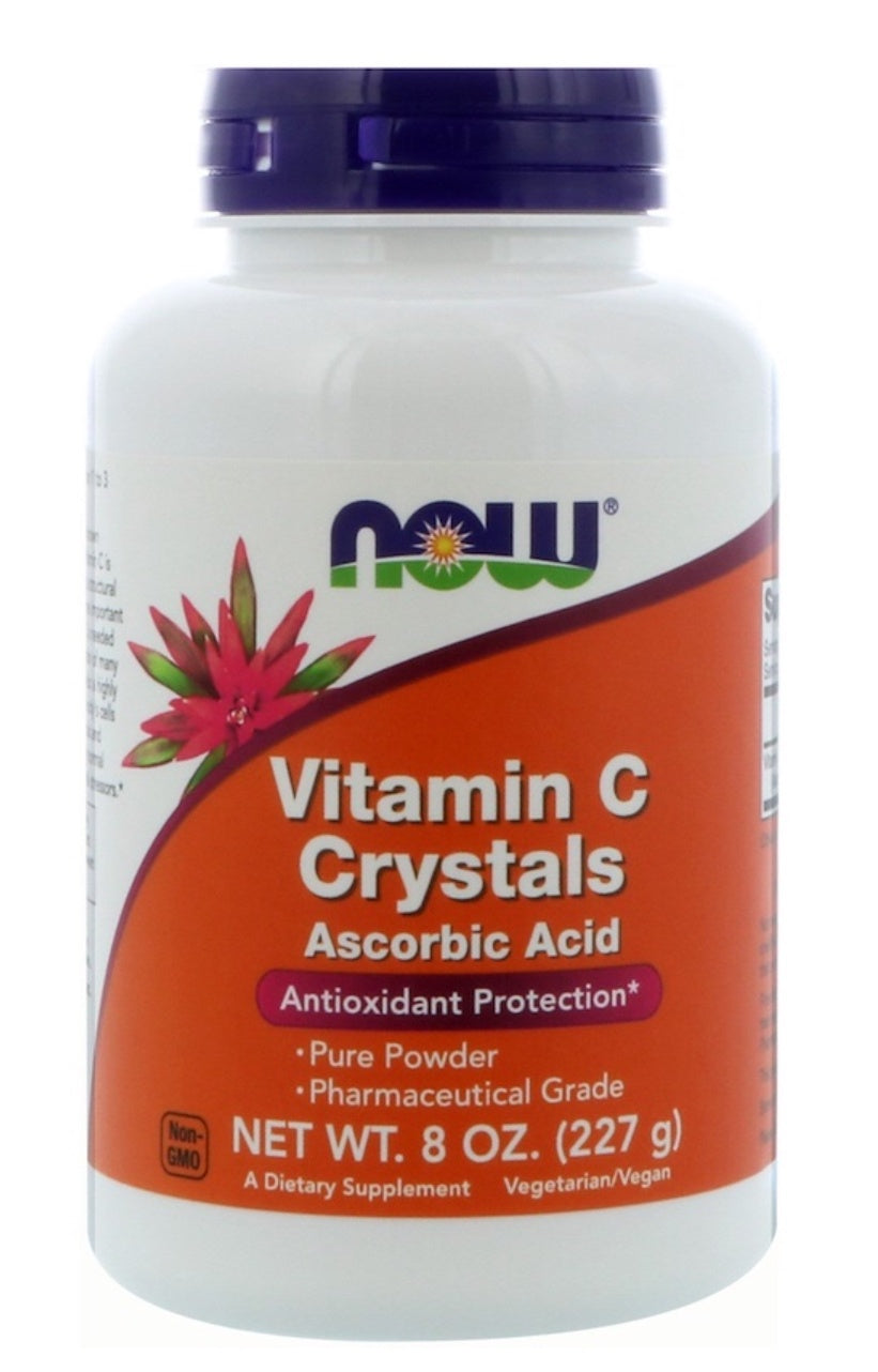 Now Vitamin C Crystals 8 Oz.
