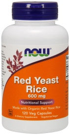 Red Yeast Rice 600 mg - 120 Veg Capsules