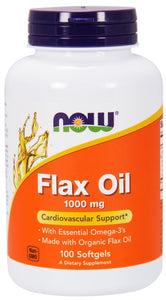 Now Flax Oil 1000 mg - 100 Softgels
