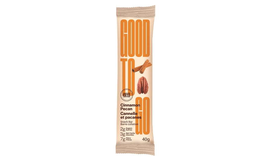 Good To Go Cinnamon Pecan Keto Snack Bar