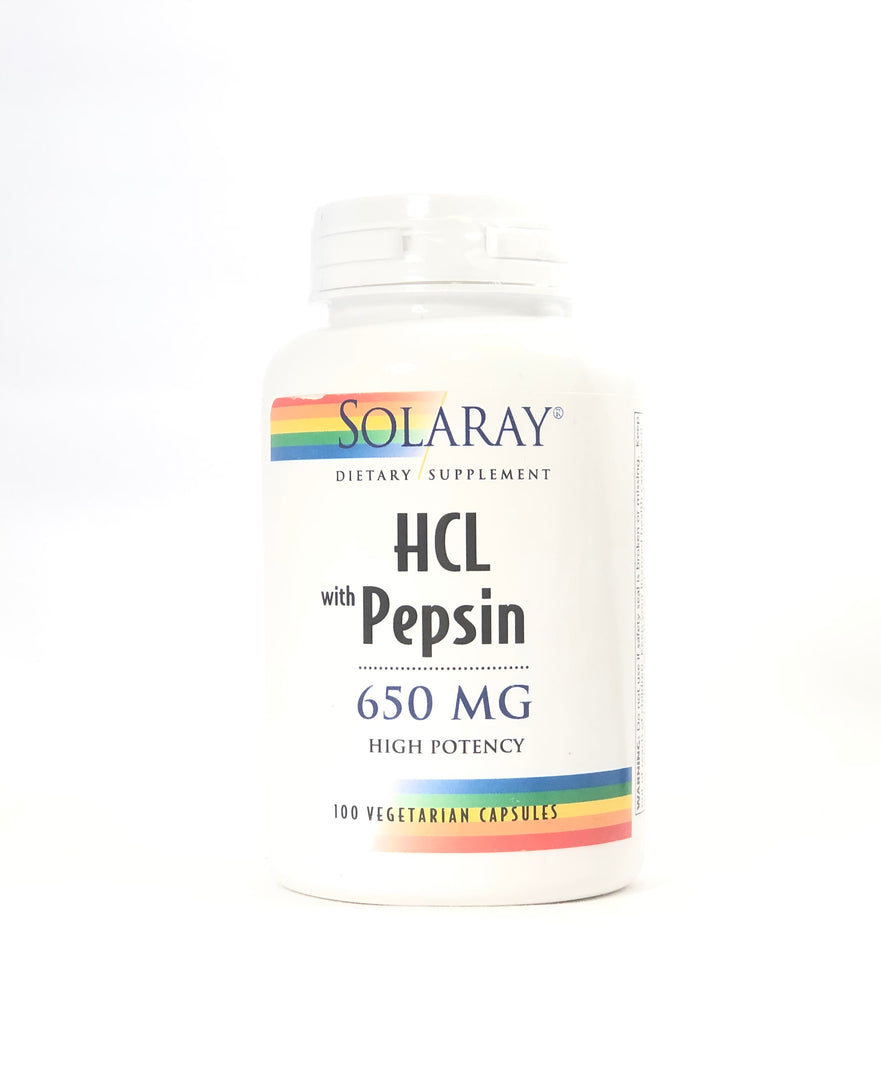 Solaray Betaine HCL w/ Pepsin 650 mg High Potency 100 Capsules