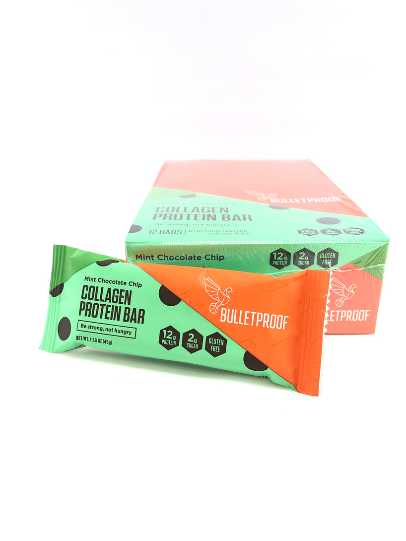 Bulletproof Mint Chocolate Chip Collagen Protein Bar