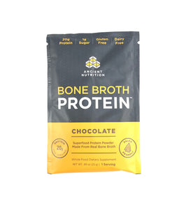 Ancient Nutrition Bone Broth Protein Single Packets (Chocolate or Vanilla)