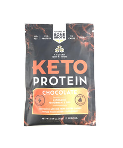 Ancient Nutrition Bone Broth Keto Protein Single Serving Chocolate