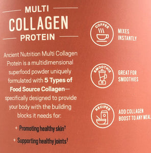 Ancient Nutrition Multi Collagen Protein Vanilla 16.8 oz