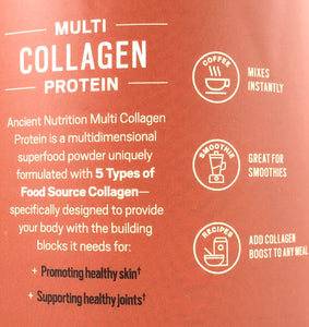 Ancient Nutrition Multi Collagen Protein Cold Brew Collagen 17.6 oz