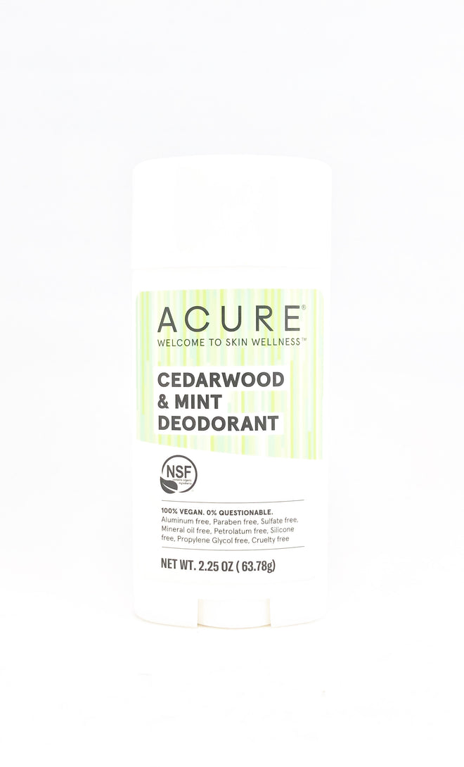 Acure Cedarwood & Mint Deodorant 2.25 oz