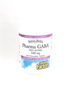Natural Factors Stress-Relax Fast Acting Pharma GABA Chewables